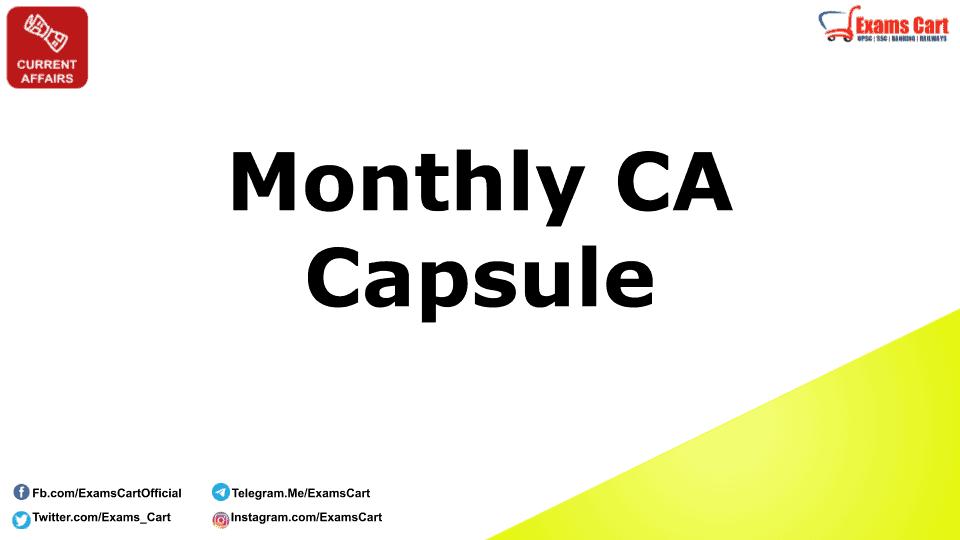 Monthly Current Affairs Capsule