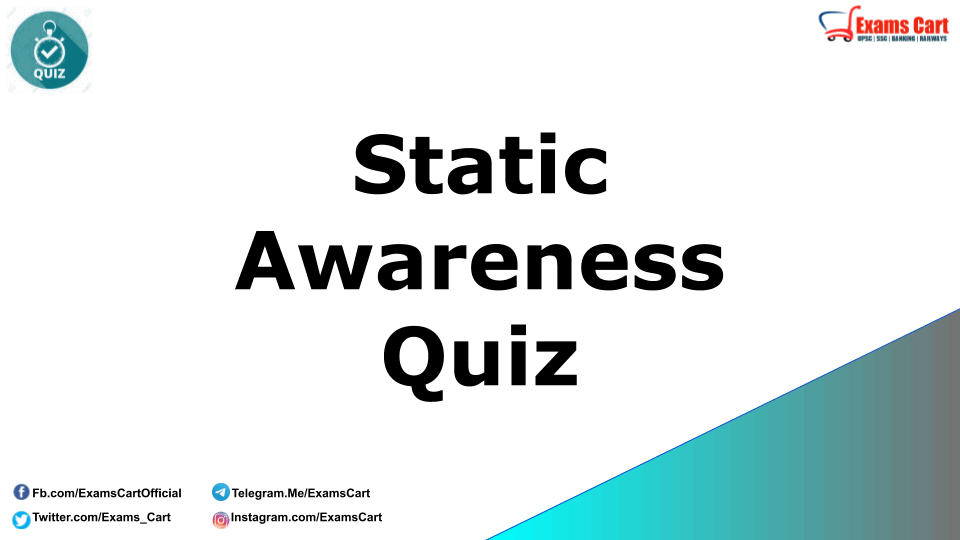Static GK Quiz