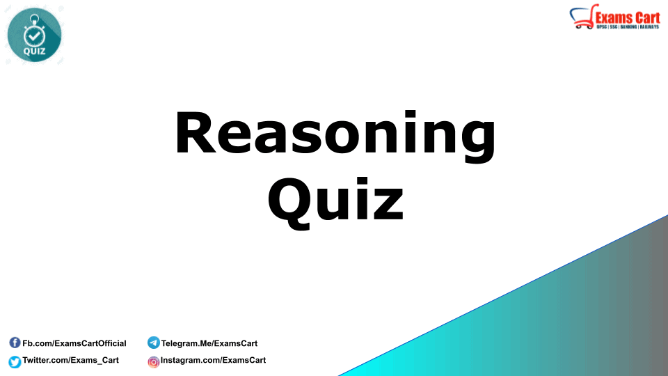 Reasoning Quiz for RRB NTPC and SSC