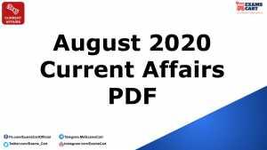 Current Affairs August 2020 Capsule