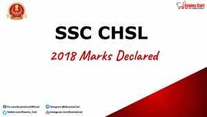 SSC CHSL 2018 Score Card