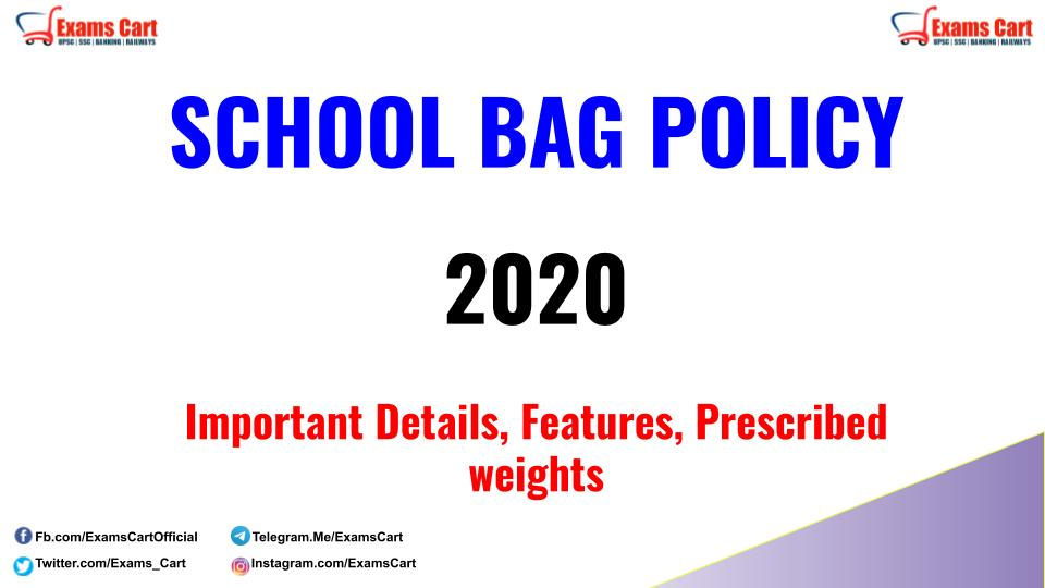 School Bag Policy 2020