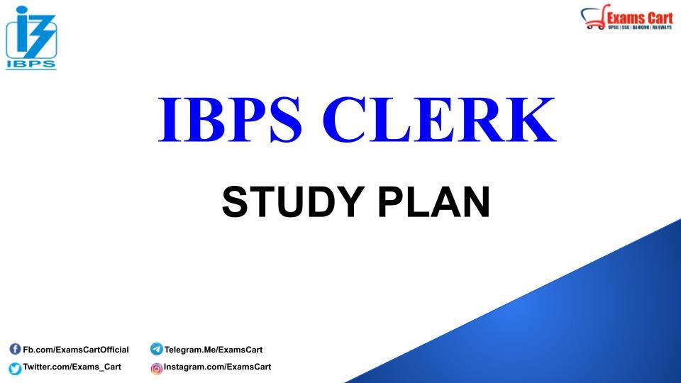 Best Study Plan For IBPS Clerk