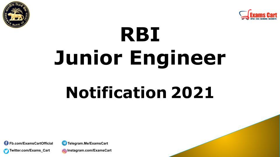 RBI Junior Engineer Notification 2021