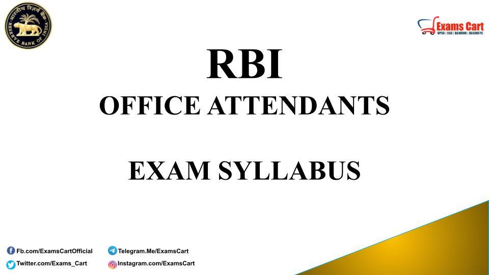 RBI Office Attendants Exam Syllabus