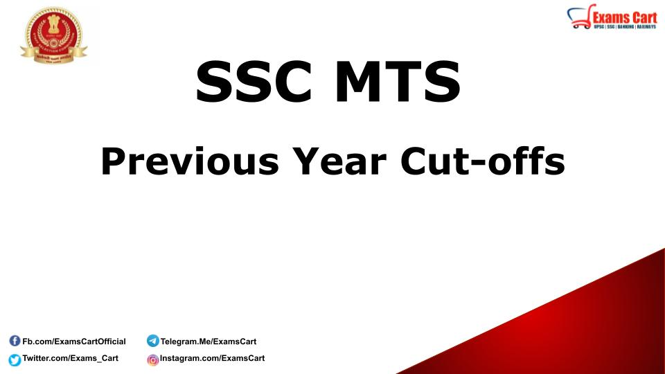 SSC MTS Previous Year Cut-off Marks