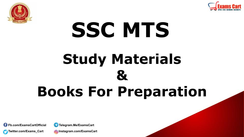 SSC MTS Study Material Book