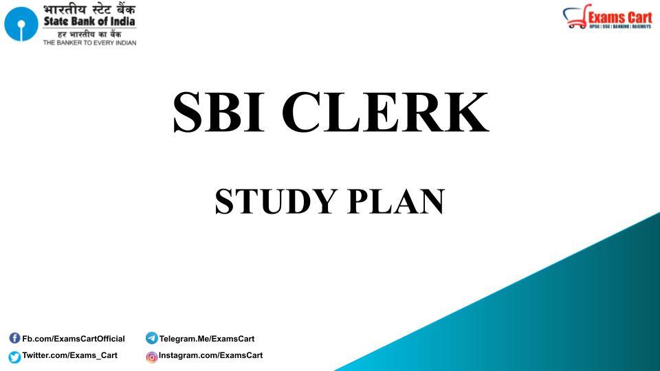 Study Plan For SBI Clerk