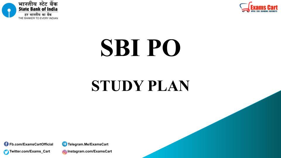 Study Plan For SBI PO