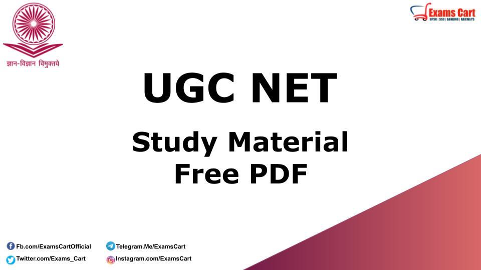 UGC NET Study Material Book PDF