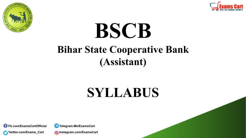 BSCB Assistant Exam Syllabus