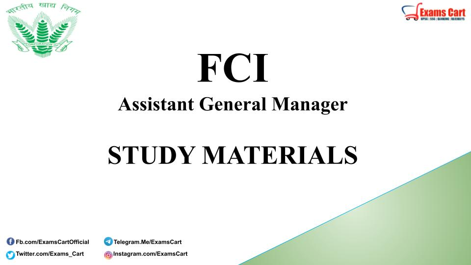 FCI Study Material Book PDF
