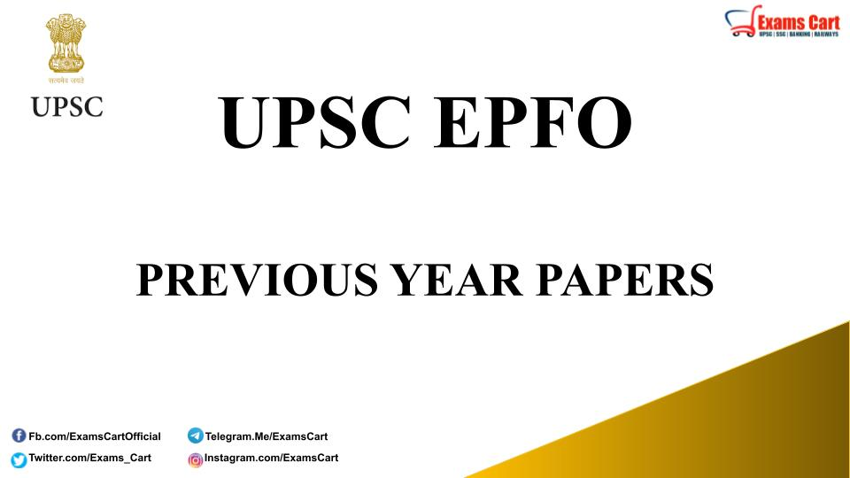 UPSC EPFO Previous Year Question Paper