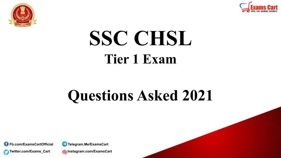 SSC CHSL Exam Questions Asked