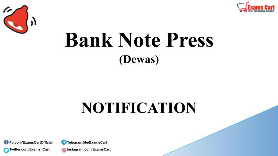 Bank Note Press Recruitment