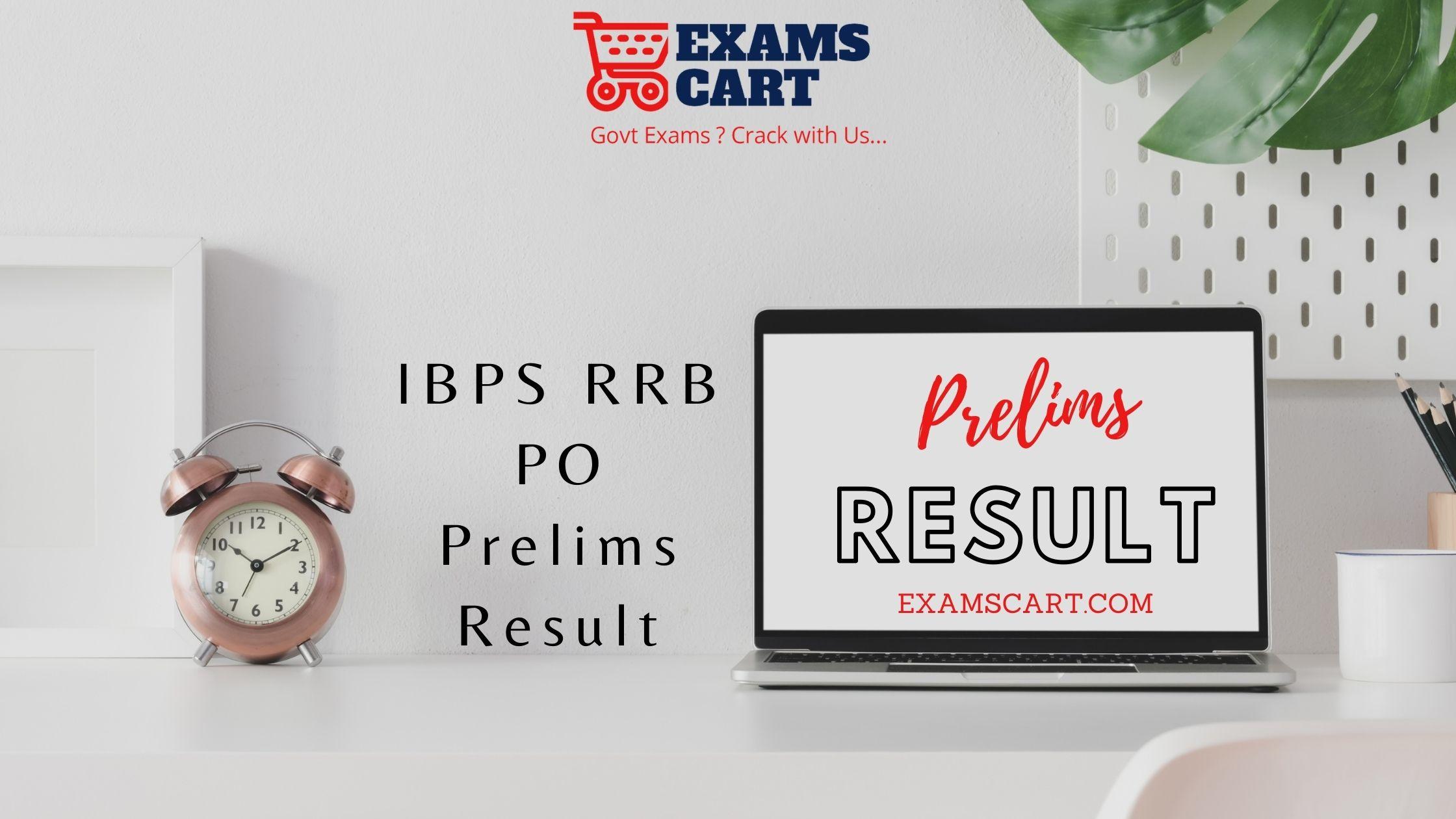 IBPS RRB PO Prelims Result